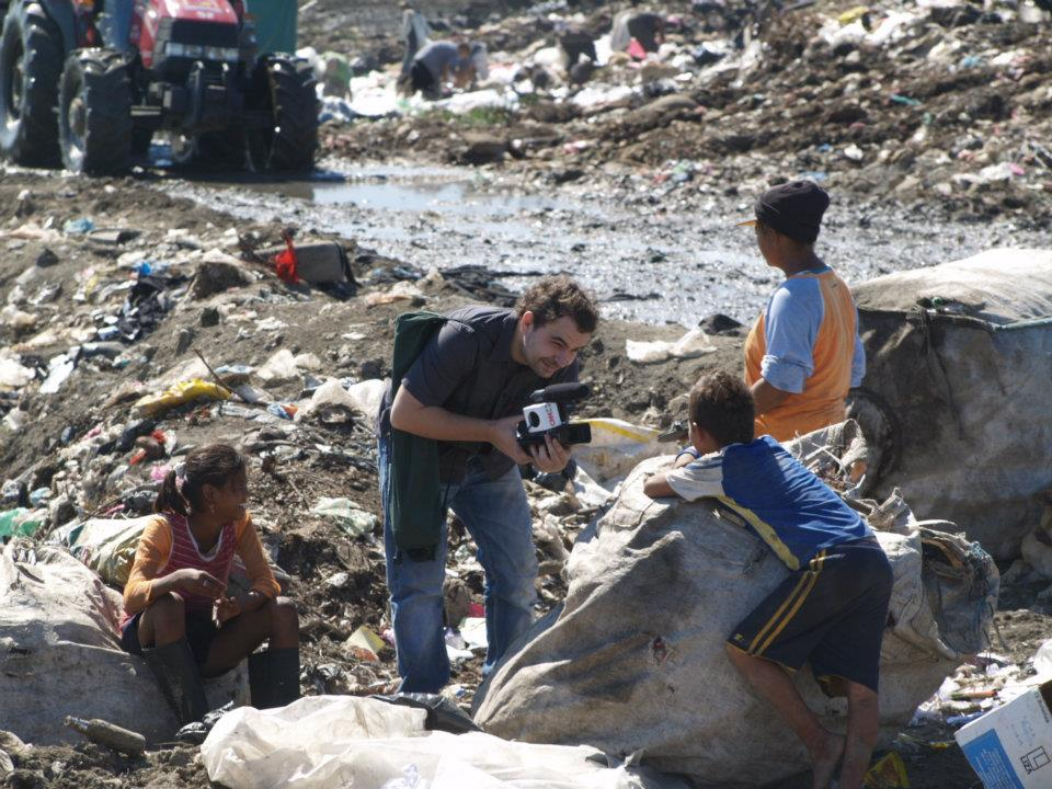 Angel Sastre en el basural La Chureca, Nicaragua